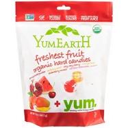 Καραμέλες φρούτων βιολογικές, 93,5 γρ., Yum Earth