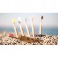 Οδοντόβουρτσα από μπαμπού για ενήλικες, medium, κόκκινη, BeMyFlower