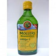 Μουρουνέλαιο (Cod Liver Oil), Φυσική γεύση, 250ml, MOLLER'S