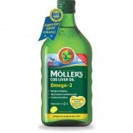 Μουρουνέλαιο (Cod Liver Oil),  Γεύση Tutti frutti, 250ml, MOLLER'S