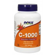Vitamin C 1000 mg,100 tabs, Now