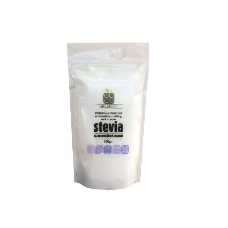 Στέβια κρυσταλλική με ερυθριτόλη, 300 γρ., Green Bay