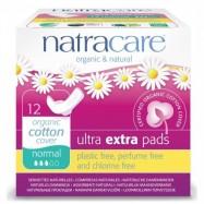 Σερβιέτες Ultra Pads normal για κανονική ροή, 12 τμχ, Natracare