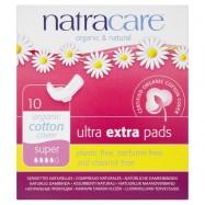 Σερβιέτες Ultra Pads super  για μεγάλη ροή, 10 τμχ, Natracare