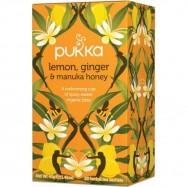 Τσάι Λεμόνι, Τζίντζερ & Μέλι Manuka (Lemon ginger & manuka honey), pukka