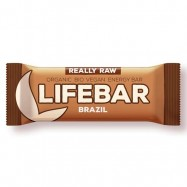 Μπάρα ενέργειας με καρύδια βραζιλίας, ωμή και vegan, 47 γρ., Lifebar