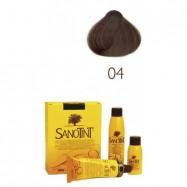 Βαφή μαλλιών καστανό ανοιχτό Νο4 , Sanontit
