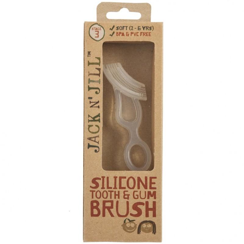 Οδοντόβουρτσα σιλικόνης για παιδιά από 2-5 ετών, Jack n' Jill