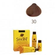 Βαφή μαλλιών ξανθό ζεστό σκούρο Νο30, Sanotint