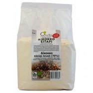 Αλεύρι λευκό Τ70% από δίκοκκο σιτάρι (ζεα), ΒΙΟ, 1 Κιλό, Όλα Bio