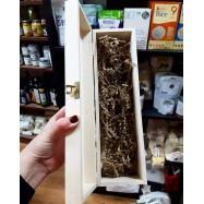 Θήκη ξύλινη μονή καφέ χειροποίητη
