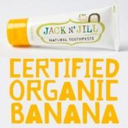 Οδοντόκρεμα για παιδιά με γεύση μπανάνα, 50 γρ,  Jack n' Jill