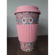 Κούπα από μπαμπού (παχιά σιλικόνη), ροζ