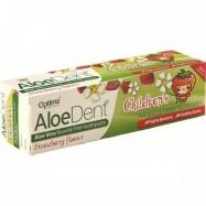 Οδοντόκρεμα για παιδιά με γεύση φράουλα και αλόη, 50 ml, optima