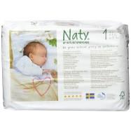 Πάνες για νεογέννητα μωρά Νο 1, 25 τμχ, Naty