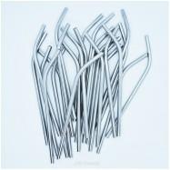 Καλαμάκι ανοξείδωτο, 17 cm με καμπύλη