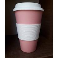 Κούπα από μπαμπού ροζ, 450 ml