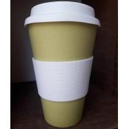 Κούπα από μπαμπού πράσινη, 450 ml