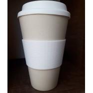 Κούπα από μπαμπού μπεζ, 450 ml
