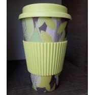 Κούπα από μπαμπού (παχιά σιλικόνη), κίτρινα φύλλα