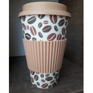 Κούπα από μπαμπού (χονδρή σιλικόνη), καφές