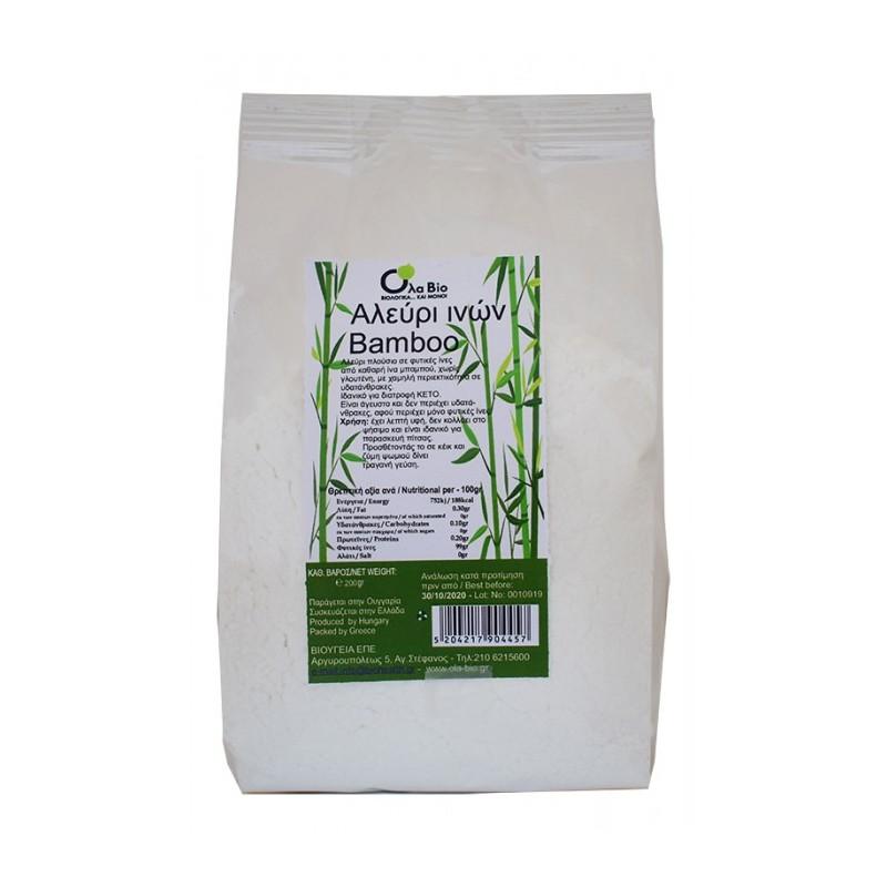 Αλεύρι από ίνες μπαμπού, 200 γρ., Όλα Bio