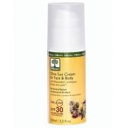 Αντηλιακή κρέμα για πρόσωπο και σώμα, 100 ml, SPF 30, Bioselect