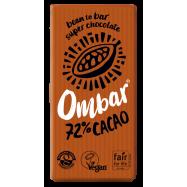 Σοκολάτα, 72 % κακάο, ωμή, 35 γρ., Ombar
