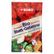 Ζελατίνη βιολογική σε φύλλα 10 γρ., SOBO