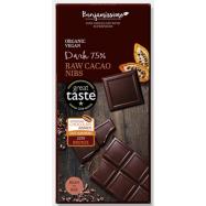 Σοκολάτα μαύρη 75% με κακάο...