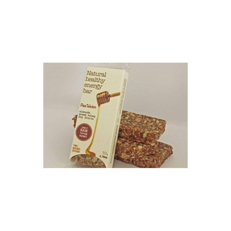 Μπάρα με αμύγδαλα και μέλι, άψητη, 50 γρ., Παστέλειον